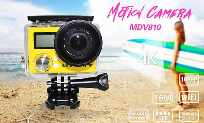 4K超清广角镜运动DV摄像机(MDV810)